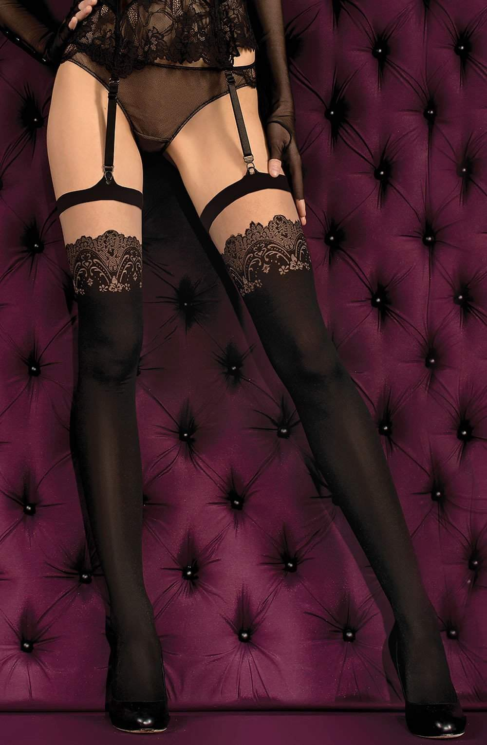 Ballerina 383 Stockings Nero (Black) Skin