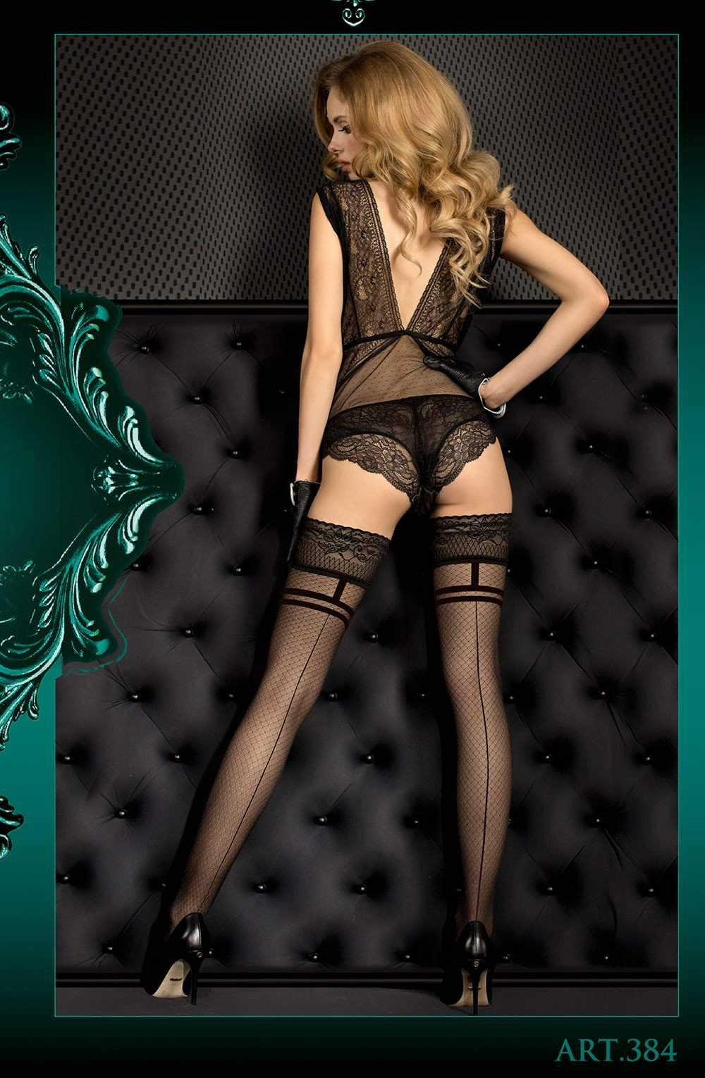 Ballerina 384 Hold Ups Nero (Black) - Ballerina - Katys Boutique Lingerie USA