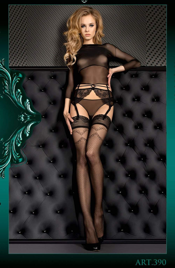 Ballerina 390 Hold Ups Nero (Black) - Ballerina - Katys Boutique Lingerie USA