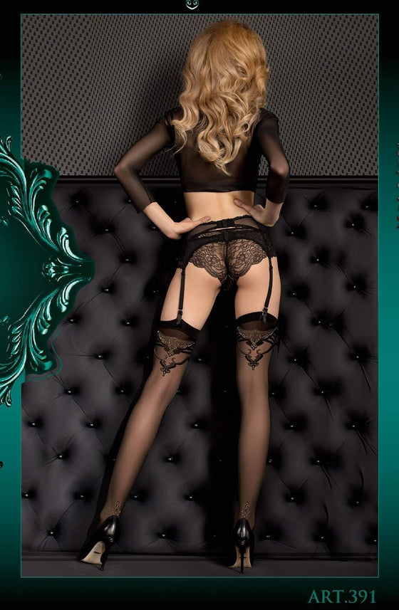 Ballerina 391 Stockings Nero (Black) - Ballerina - Katys Boutique Lingerie USA