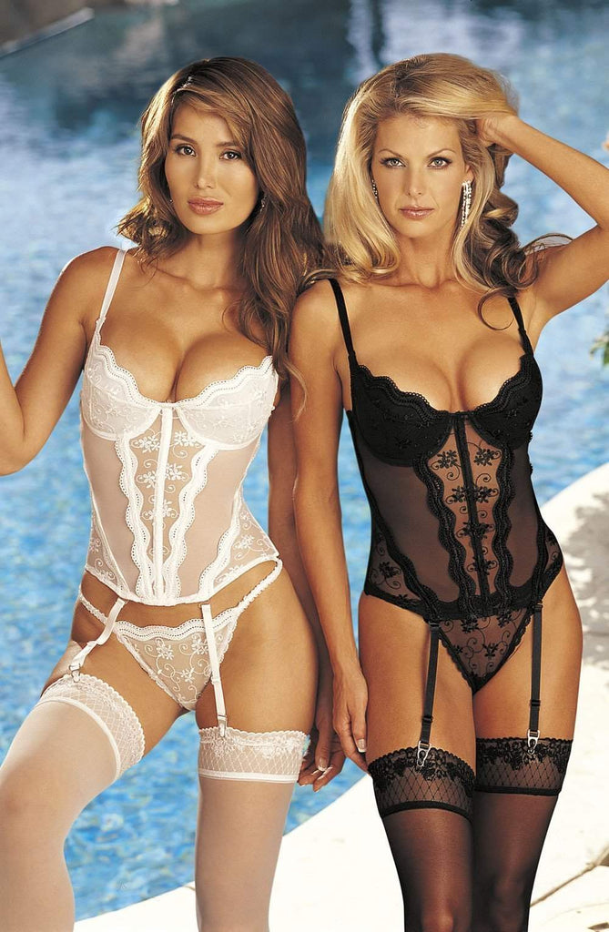 9407 Corset in White by Shirley of Hollywood - Shirley of Hollywood - Katys Boutique Lingerie USA