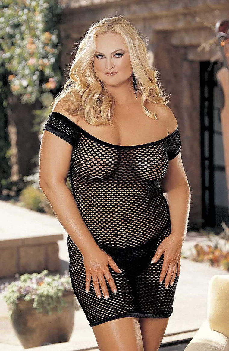 SoH-HL 96896Q (Plus Size) Black - Shirley of Hollywood - Katys Boutique Lingerie USA