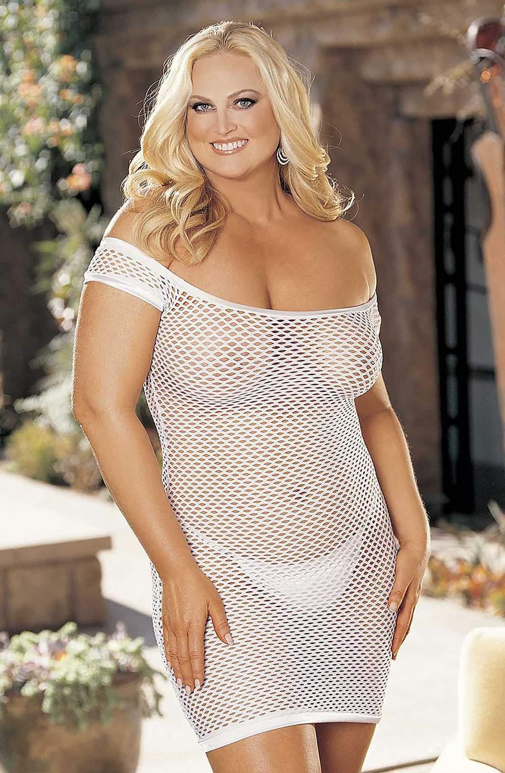 SoH-HL 96896Q (Plus Size) White - Shirley of Hollywood - Katys Boutique Lingerie USA