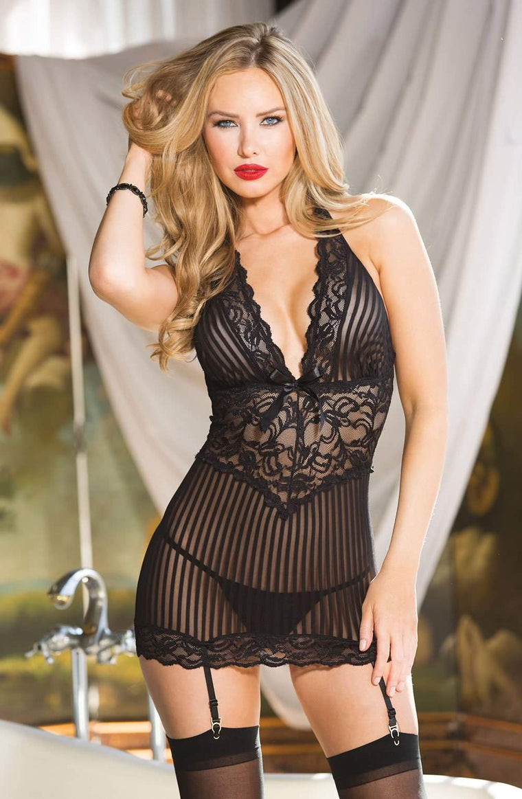 96902 Chemise in Black by Shirley of Hollywood - Shirley of Hollywood - Katys Boutique Lingerie USA
