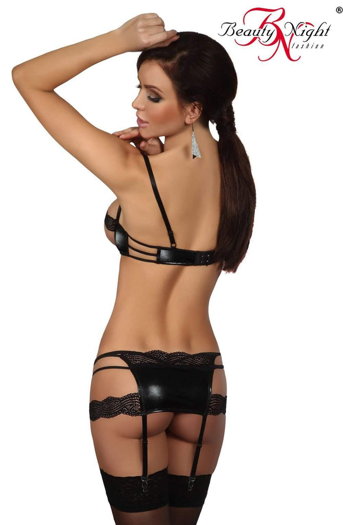 Beauty Night Angelina Set Black - Beauty Night - Katys Boutique Lingerie USA