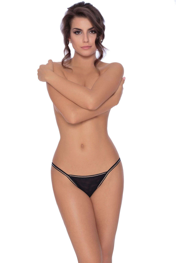 Fiona Thong In Black by Roza - Roza - Katys Boutique Lingerie USA