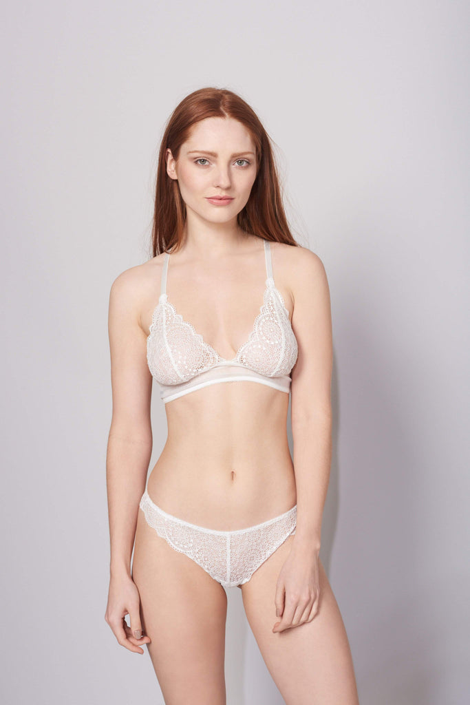 Sophia Triangle Bra in Ivory by Lepel London - Charnos / Lepel - Katys Boutique Lingerie USA