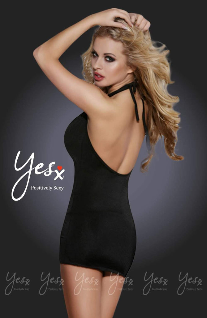 YesX YX322 Dress Black - YesX - Katys Boutique Lingerie USA