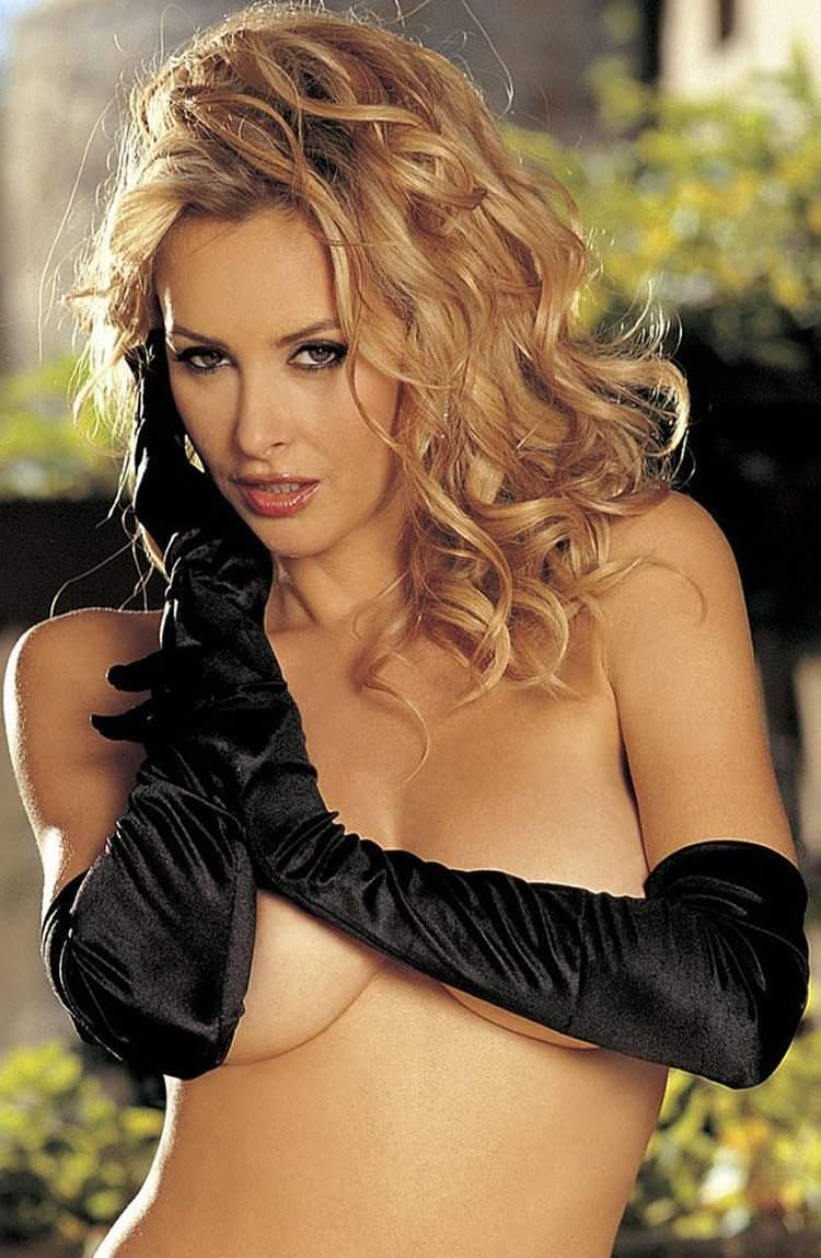 Long Satin Glove in Black by Shirley of Hollywood - Shirley of Hollywood - Katys Boutique Lingerie USA