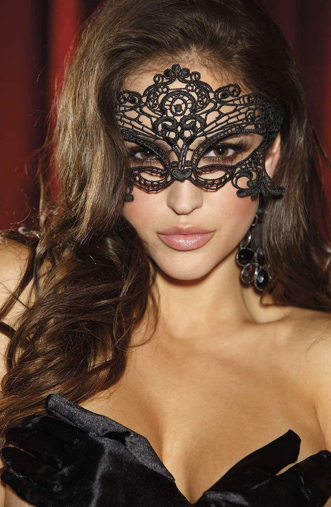 90348 Venice Mask in Black by Shirley of Hollywood - Shirley of Hollywood - Katys Boutique Lingerie USA