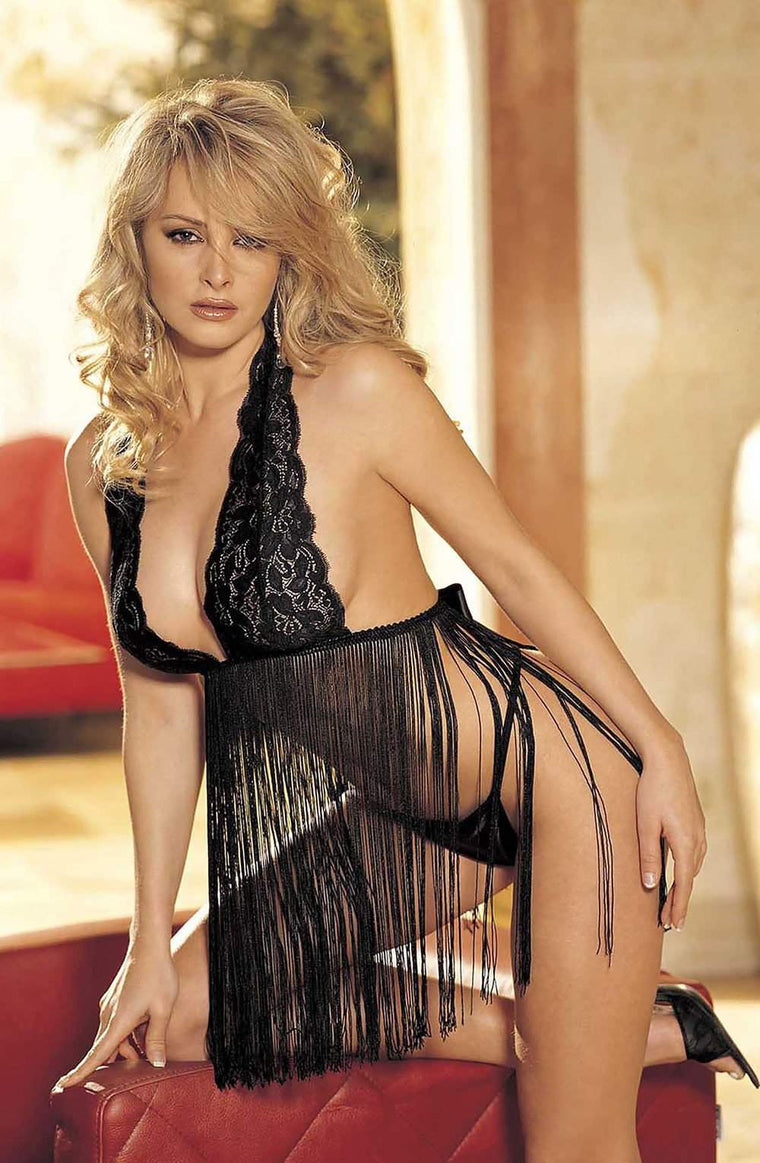 96110 Babydoll in Black by Shirley of Hollywood - Shirley of Hollywood - Katys Boutique Lingerie USA