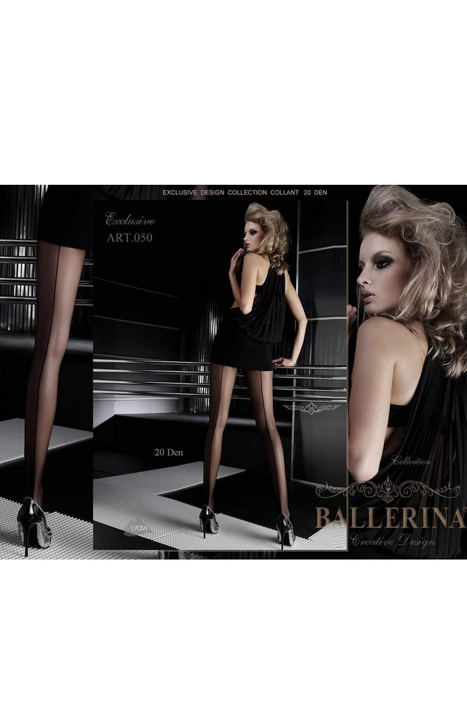 050 Tights in Black by Ballerina - Ballerina - Katys Boutique Lingerie USA