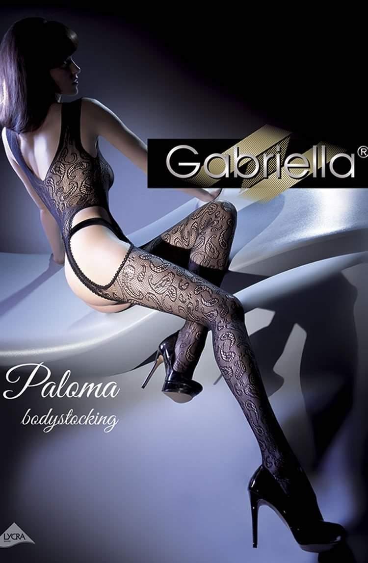 Calze Paloma Bodystocking in Black by Gabriella - Gabriella - Katys Boutique Lingerie USA