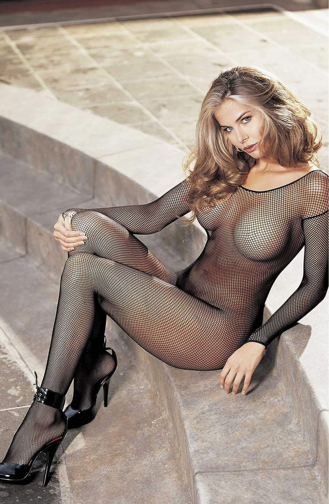 90005 Bodystocking in Black by Shirley of Hollywood - Shirley of Hollywood - Katys Boutique Lingerie USA