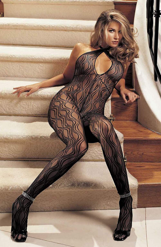 90010 Bodystocking in Black by Shirley of Hollywood - Shirley of Hollywood - Katys Boutique Lingerie USA