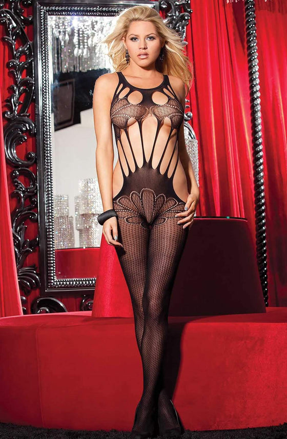 90275 Bodystocking in Black by Shirley of Hollywood - Shirley of Hollywood - Katys Boutique Lingerie USA