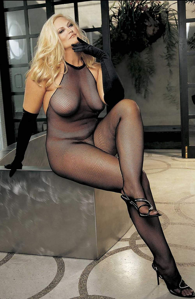 X90001 Bodystocking (Plus) in Black by Shirley of Hollywood - Shirley of Hollywood - Katys Boutique Lingerie USA