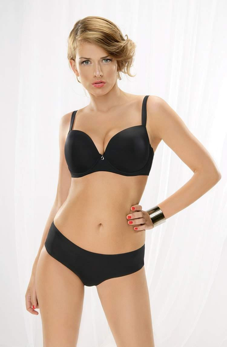 Alma Moulded Smooth Cup Bra in Black by Corin - Corin - Katys Boutique Lingerie USA