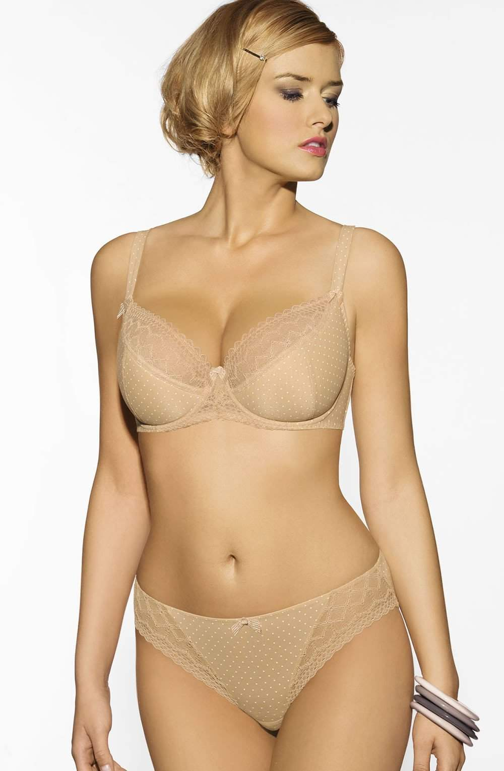 Beverly Full Cup Underwire Bra in Skin by Corin - Corin - Katys Boutique Lingerie USA