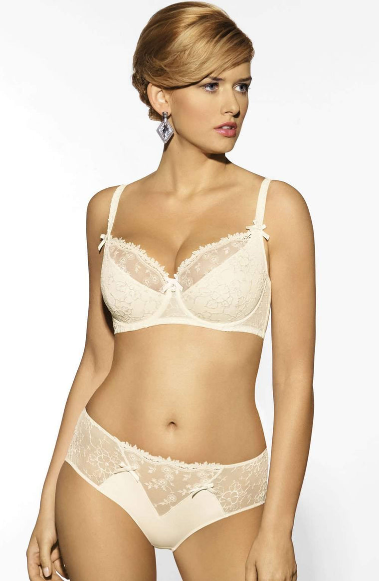 Charlotte Full Cup Underwire Bra in Ivory by Corin - Corin - Katys Boutique Lingerie USA
