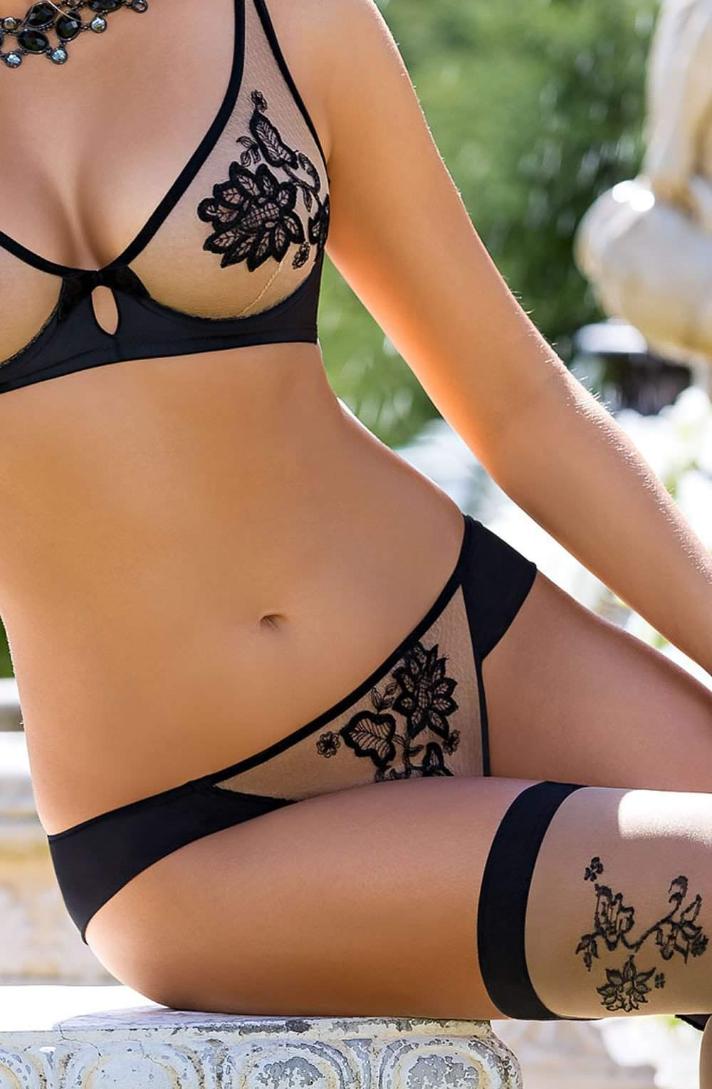 Mehendi Brief In Black by Roza - Roza - Katys Boutique Lingerie USA