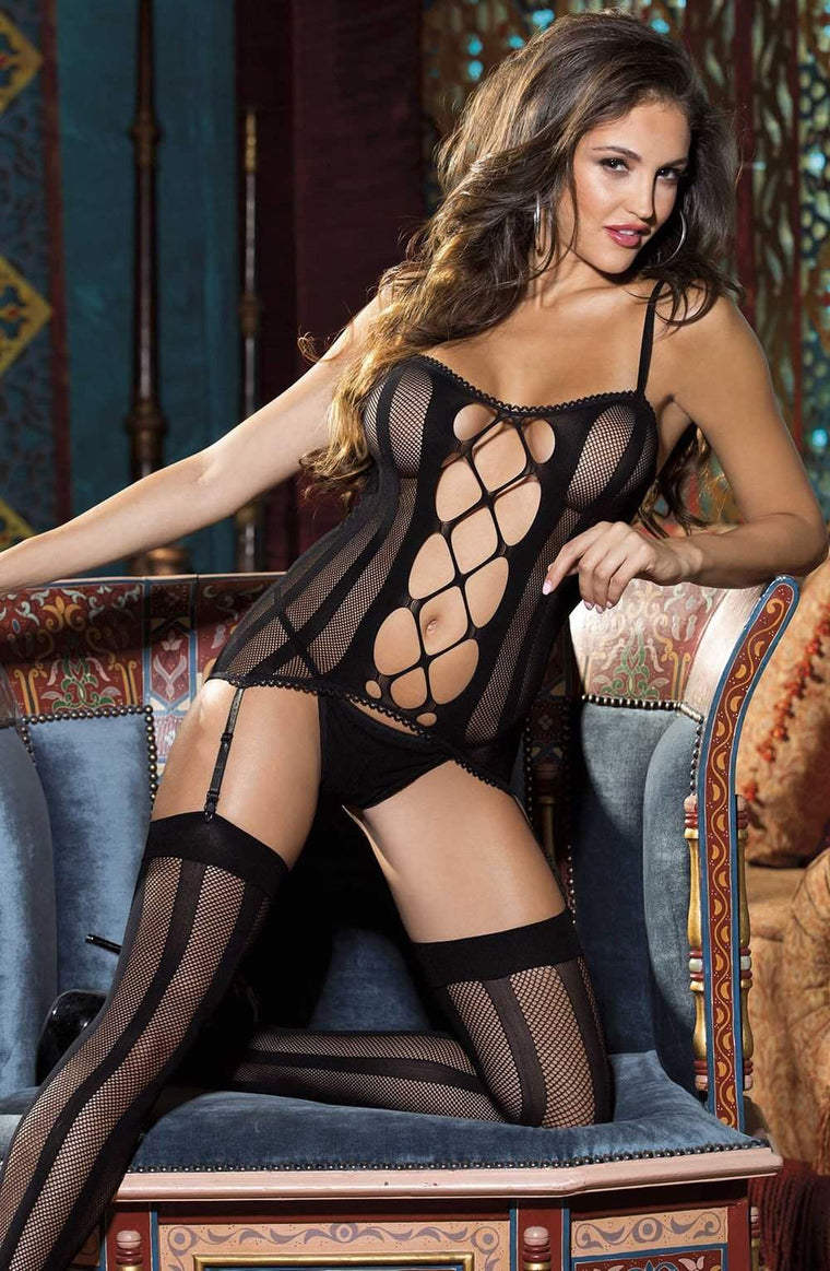 90320 3pc Set in Black by Shirley of Hollywood - Shirley of Hollywood - Katys Boutique Lingerie USA