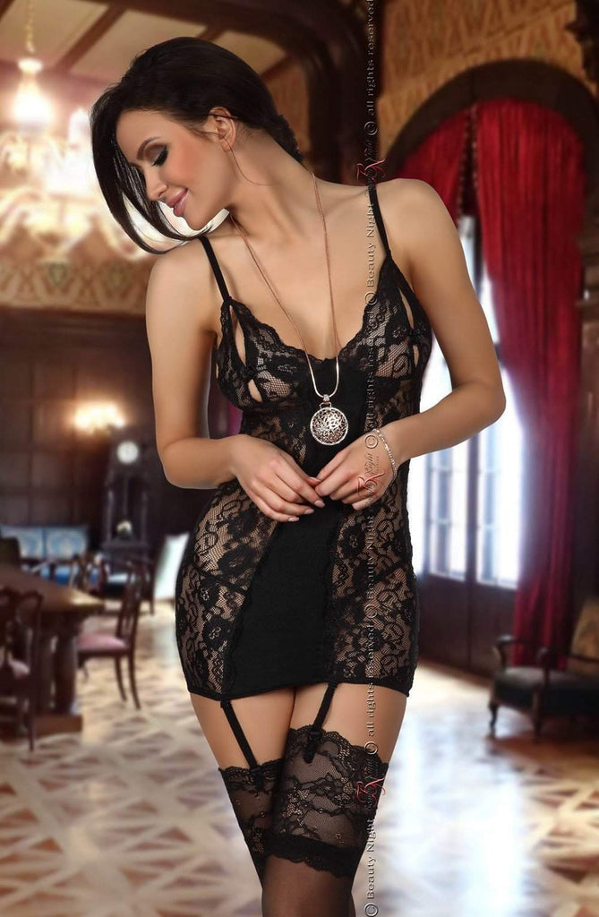 Brook Chemise in Black by Beauty Night - Beauty Night - Katys Boutique Lingerie USA