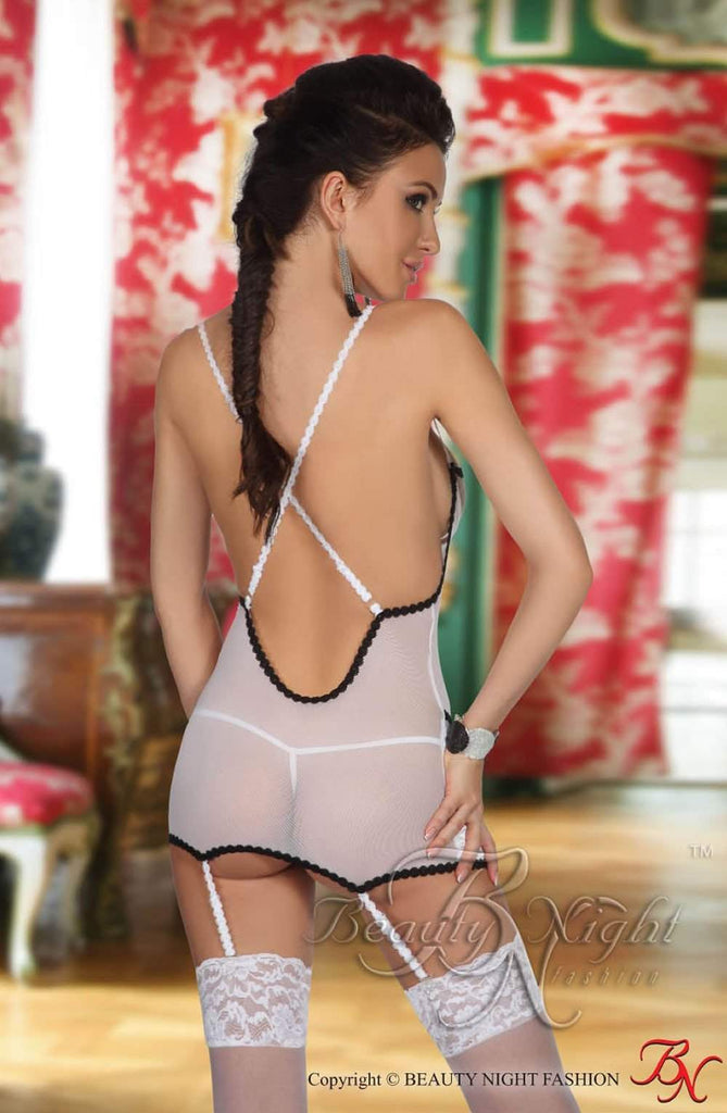 Antonia Chemise in White by Beauty Night - Beauty Night - Katys Boutique Lingerie USA