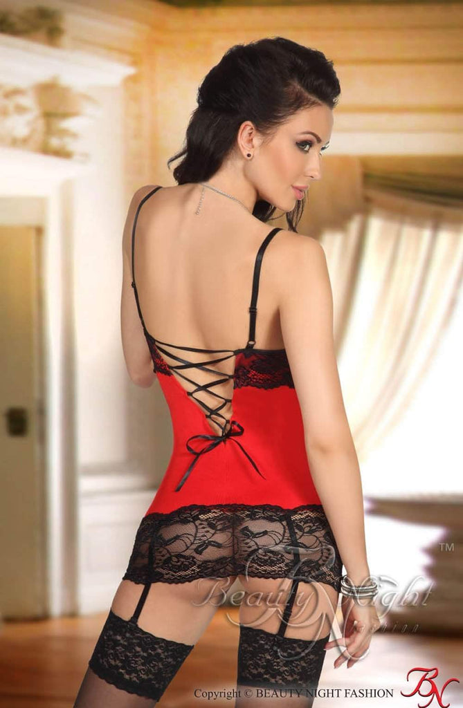 Shirley Chemise in Red by Beauty Night - Beauty Night - Katys Boutique Lingerie USA