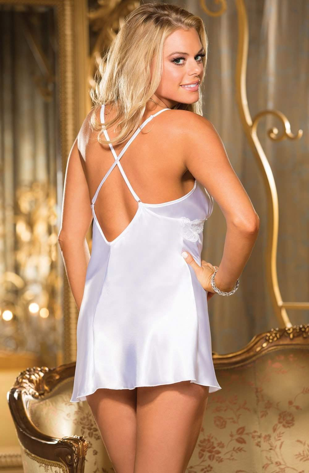 06b4d908928 ... 25399 Chemise in White by Shirley of Hollywood - Shirley of Hollywood -  Katys Boutique Lingerie
