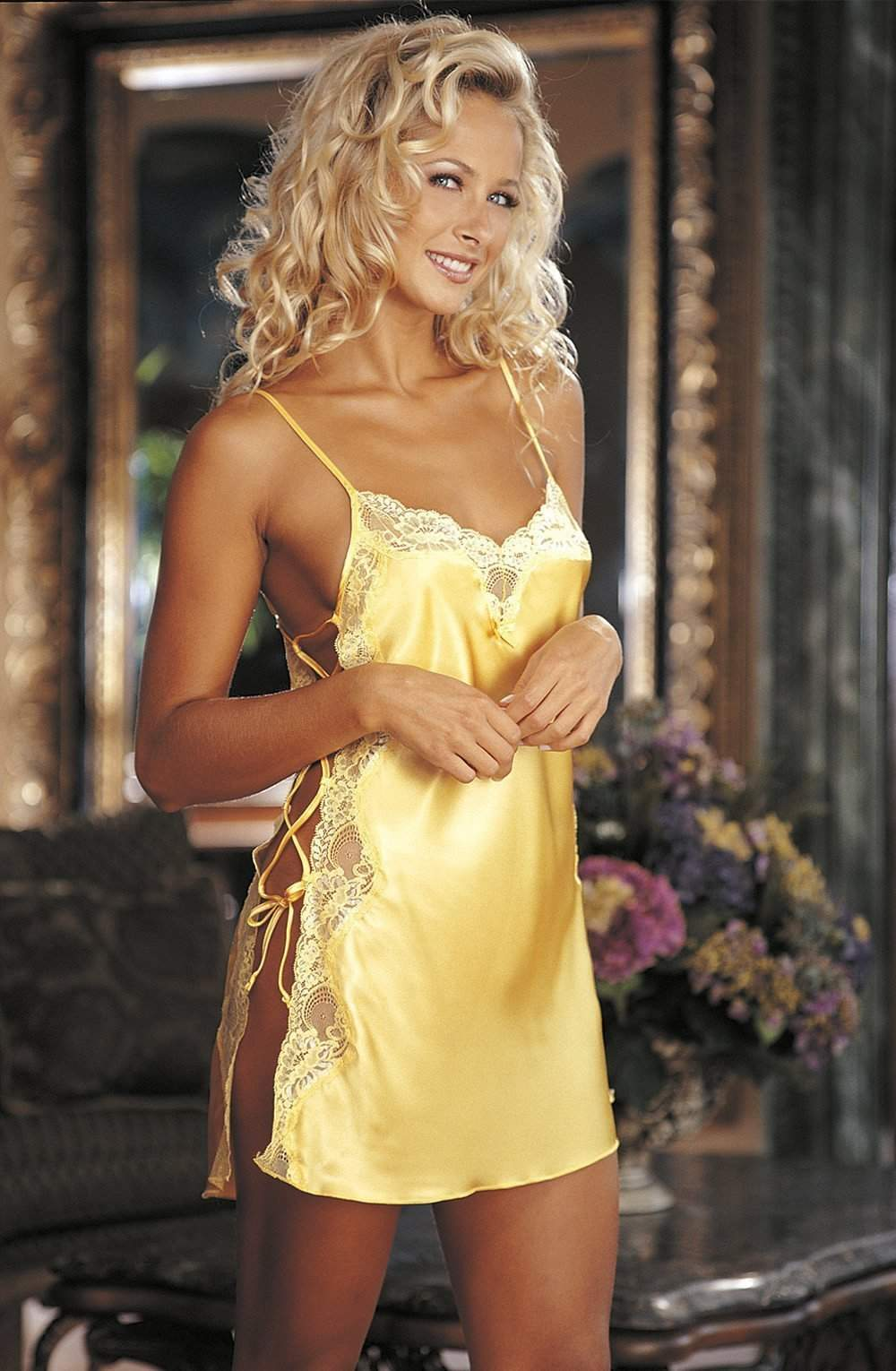 20015 Lace Chemise in Buttercup Yellow by Shirley of Hollywood - Shirley of  Hollywood - Katys 0d307e14979b