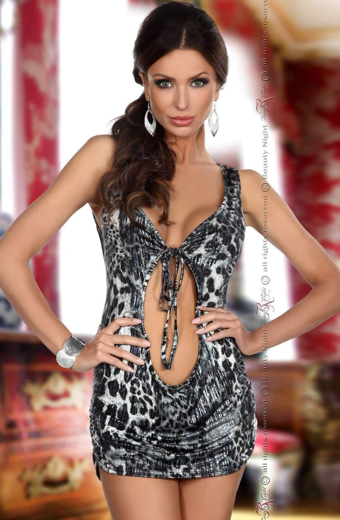 Narisa Dress in Animal Print by Beauty Night - Beauty Night - Katys Boutique Lingerie USA