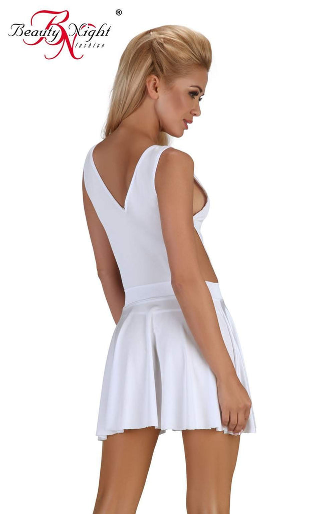 Severine Dress in White by Beauty Night - Beauty Night - Katys Boutique Lingerie USA
