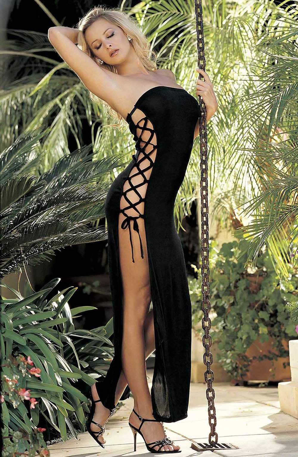 90049 Dress in Black by Shirley of Hollywood - Shirley of Hollywood - Katys Boutique Lingerie USA