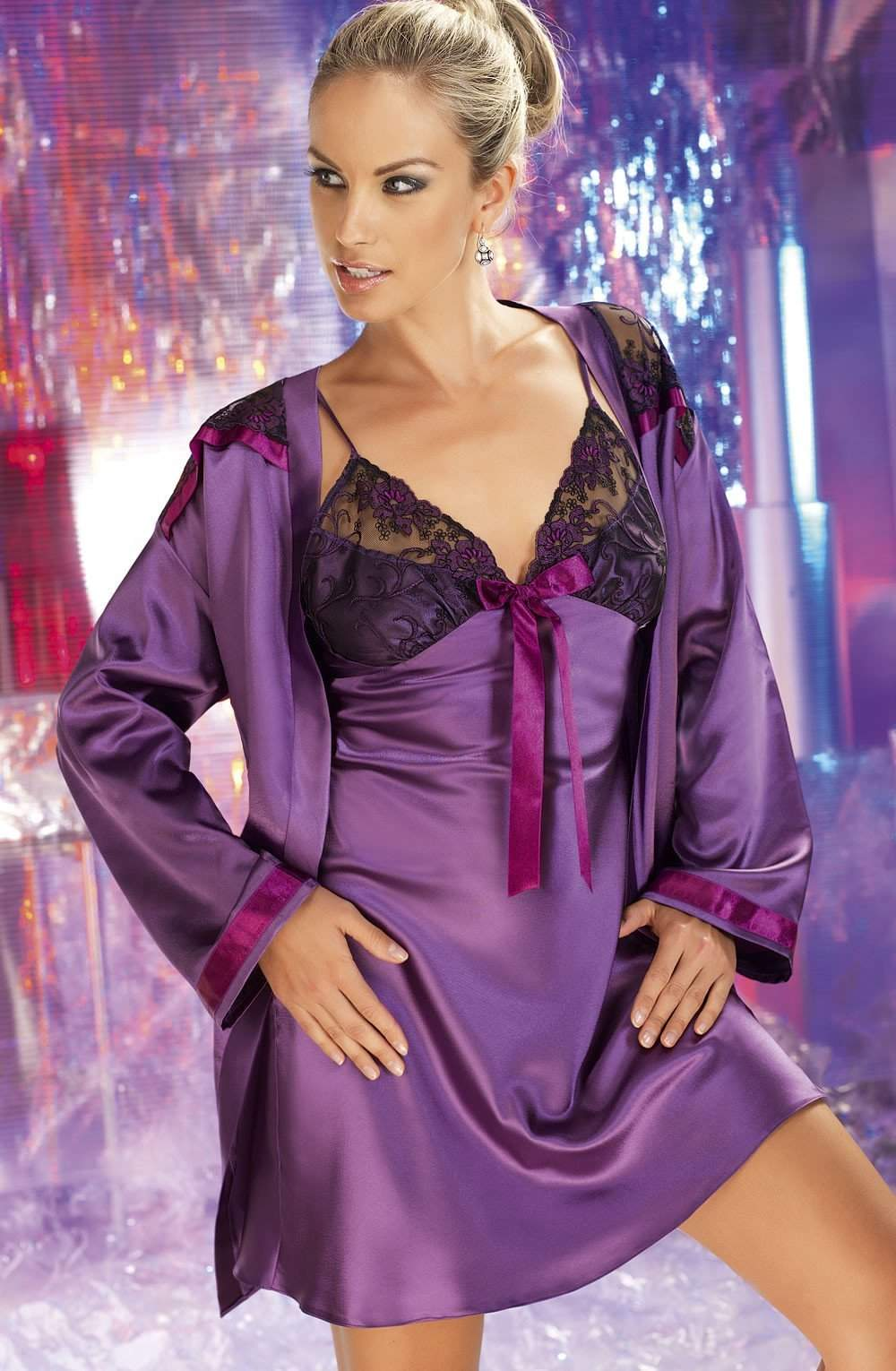 Tiffany Dressing Gown by Irall - Irall - Katys Boutique Lingerie USA