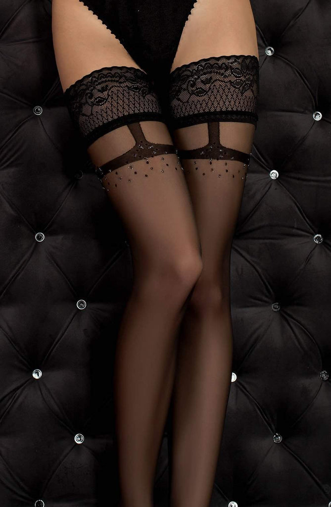 344 Hold Ups in Black by Ballerina - Ballerina - Katys Boutique Lingerie USA