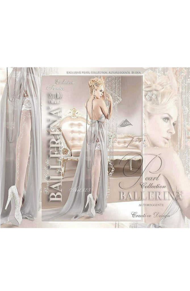 123 Hold Ups in Bianco (White) by Ballerina - Ballerina - Katys Boutique Lingerie USA