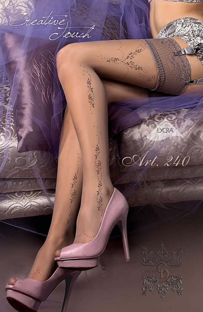 240 Hold Ups in Smoke by Ballerina - Ballerina - Katys Boutique Lingerie USA