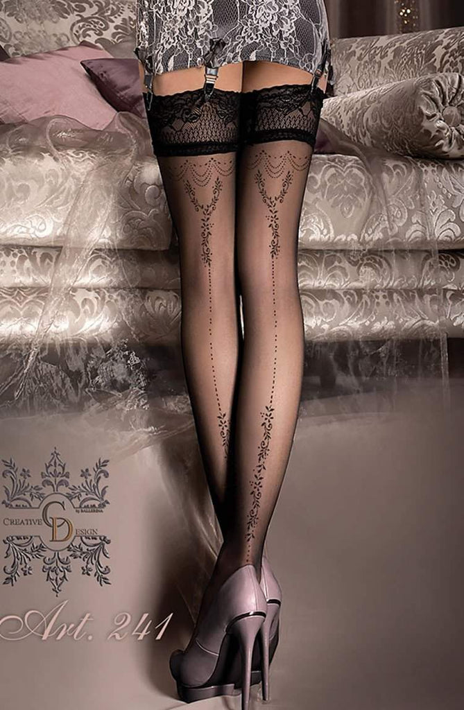 241 Hold Ups in Black by Ballerina - Ballerina - Katys Boutique Lingerie USA
