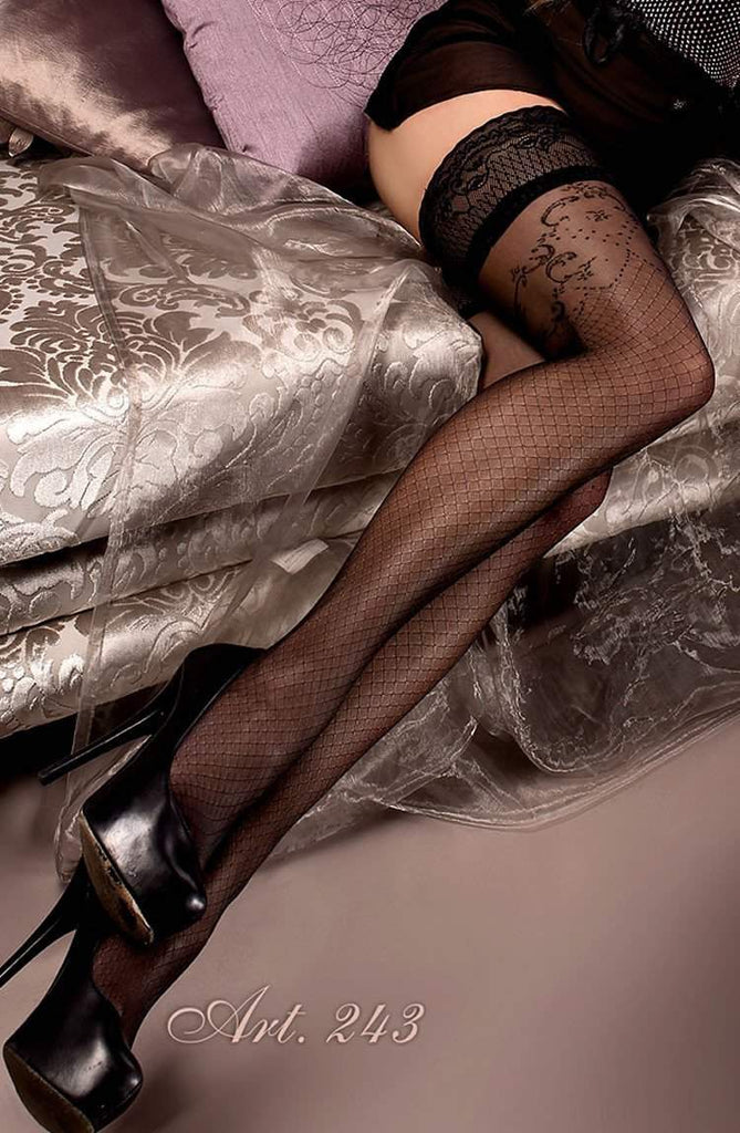 243 Hold Ups in Black by Ballerina - Ballerina - Katys Boutique Lingerie USA