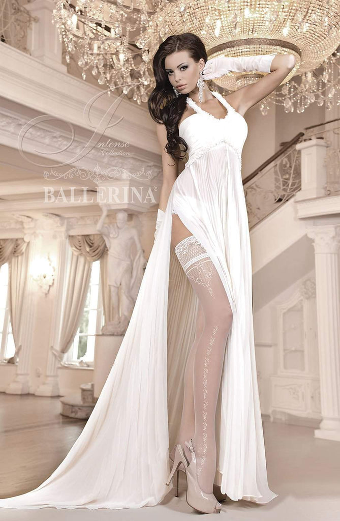 253 Hold Ups in Ivory by Ballerina - Ballerina - Katys Boutique Lingerie USA