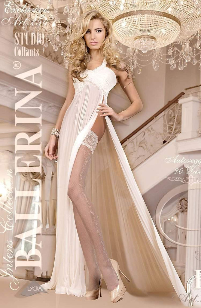 254 Hold Ups in Ivory by Ballerina - Ballerina - Katys Boutique Lingerie USA
