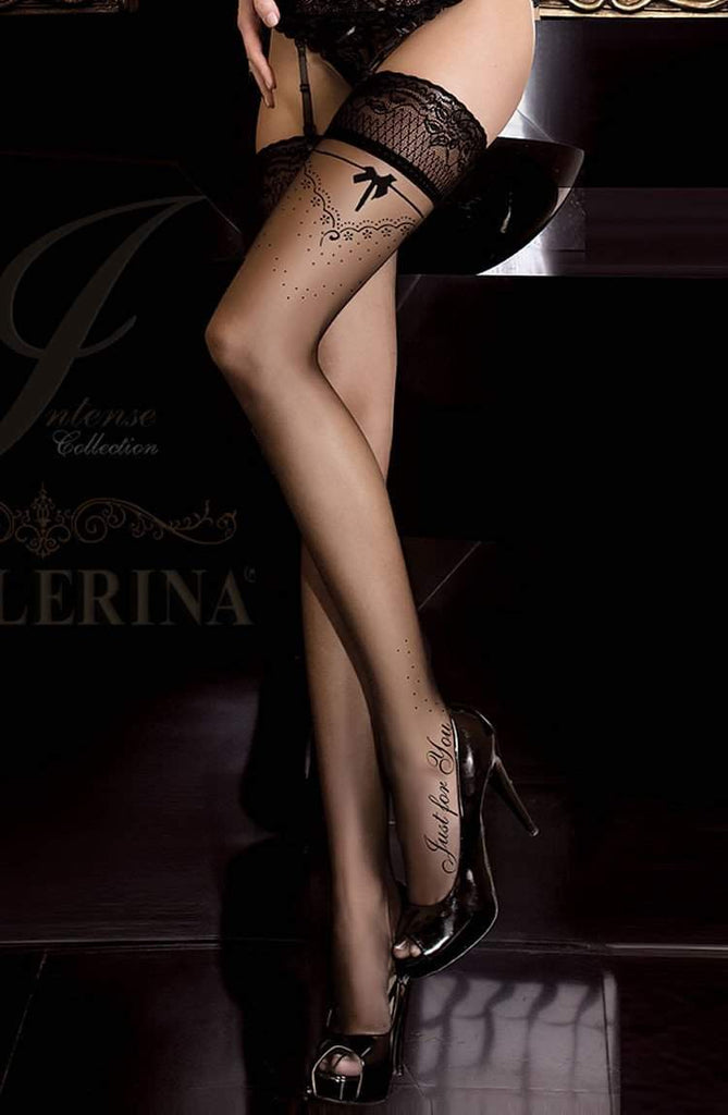 261 Hold Ups in Black by Ballerina - Ballerina - Katys Boutique Lingerie USA