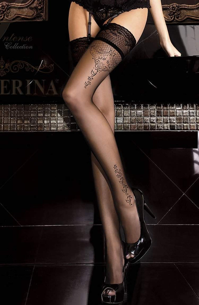 262 Hold Ups in Black by Ballerina - Ballerina - Katys Boutique Lingerie USA