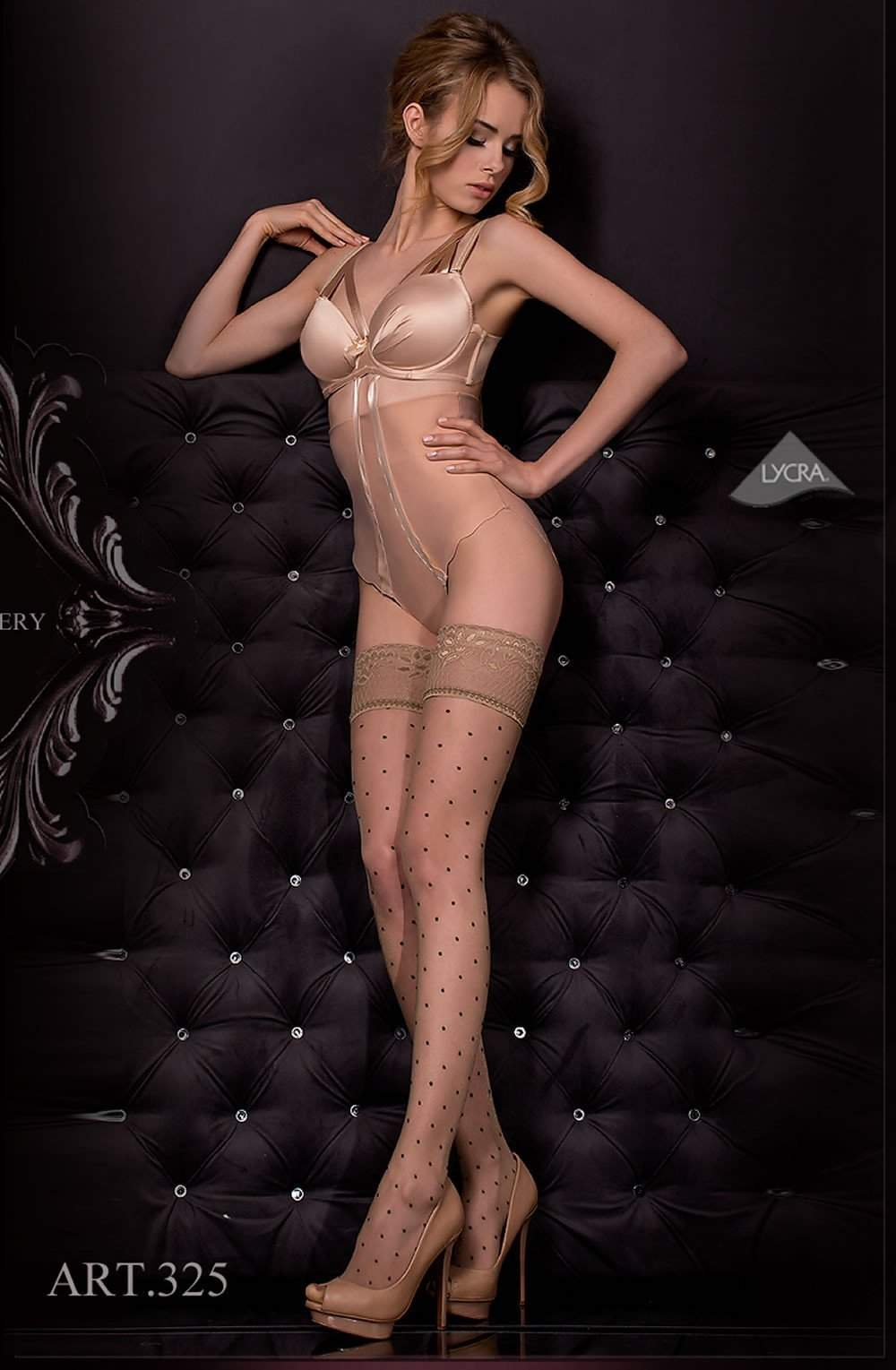 325 Hold Ups in Nero (Black) / Skin by Ballerina - Ballerina - Katys Boutique Lingerie USA