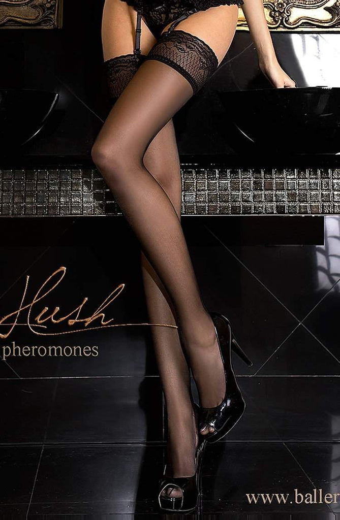 800 Hold Ups with Pheromones in Black by Ballerina - Ballerina - Katys Boutique Lingerie USA