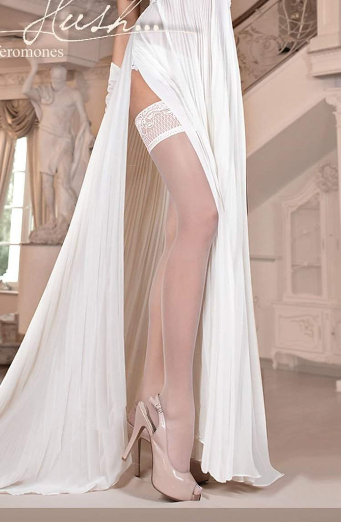 800 Hold Ups with Pheromones in Ivory by Ballerina - Ballerina - Katys Boutique Lingerie USA