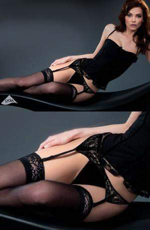 Calze Shadow Hold Ups by Gabriella - Gabriella - Katys Boutique Lingerie USA