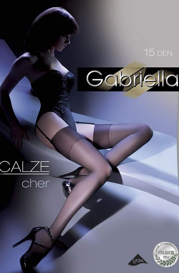 Cher Stockings in Nero by Gabriella - Gabriella - Katys Boutique Lingerie USA