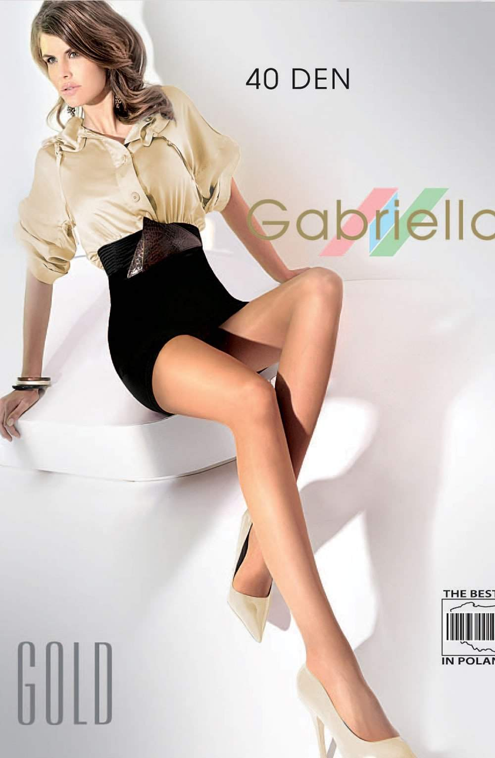 Classic Gold 40 Tights in Beige by Gabriella - Gabriella - Katys Boutique Lingerie USA